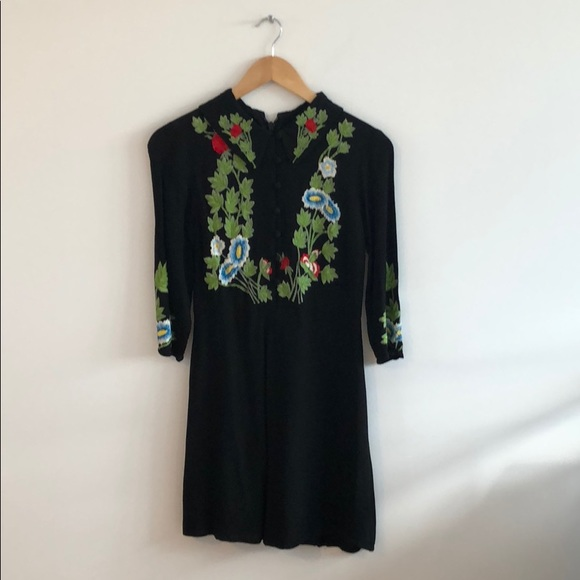 Embroided TopShop dress.